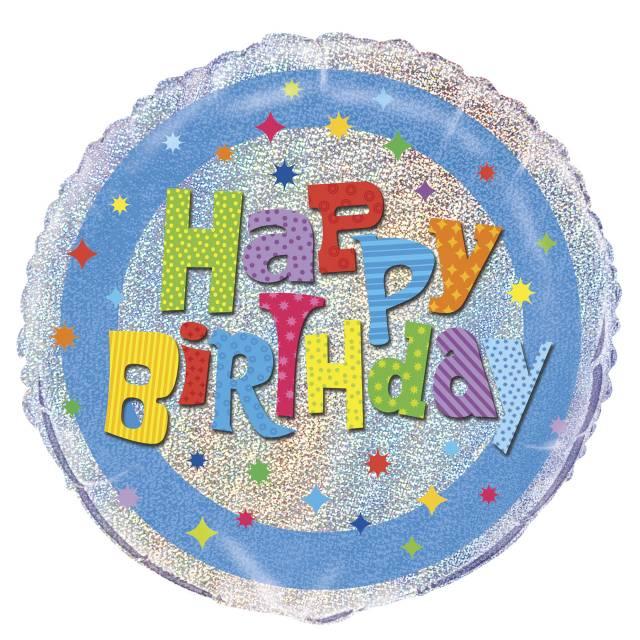 Folieballong HAPPY BIRTHDAY Prismatic Wacky
