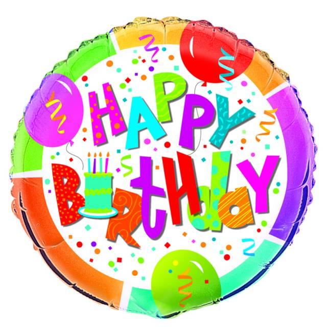 Folieballong Happy Birthday Jamboree
