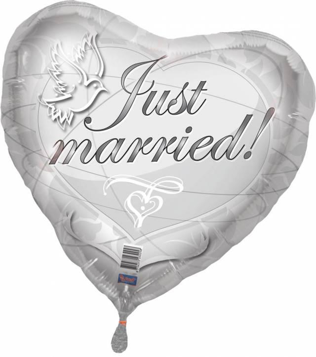 Folieballong Just Married