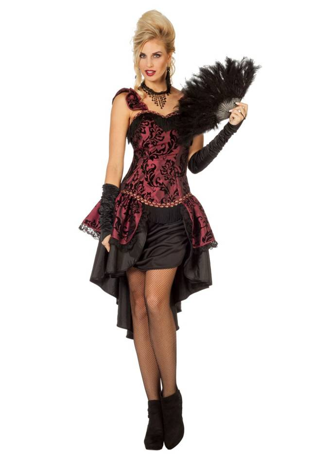 Burlesque Saloon-Girl Kjole