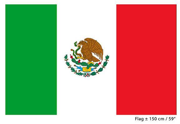 Mexico Flagg Stoff Stort