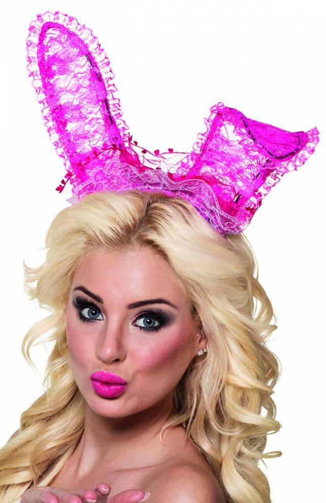Bunny Ører Sexy Rosa Blonder