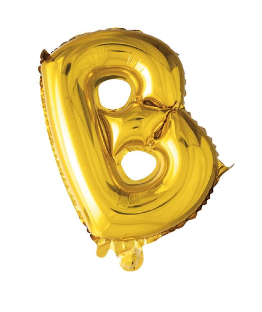Bokstavballong Gull Folie 41 cm B
