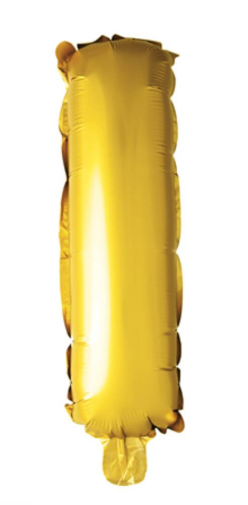 Bokstavballong Gull Folie 41 cm I