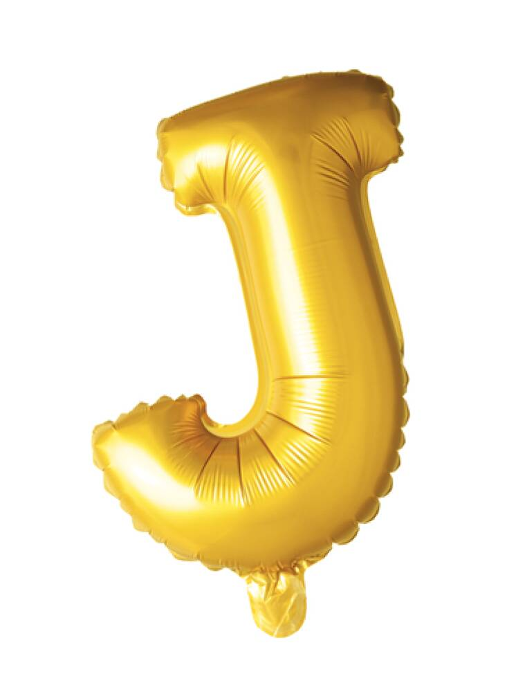 Bokstavballong Gull Folie 41 cm J