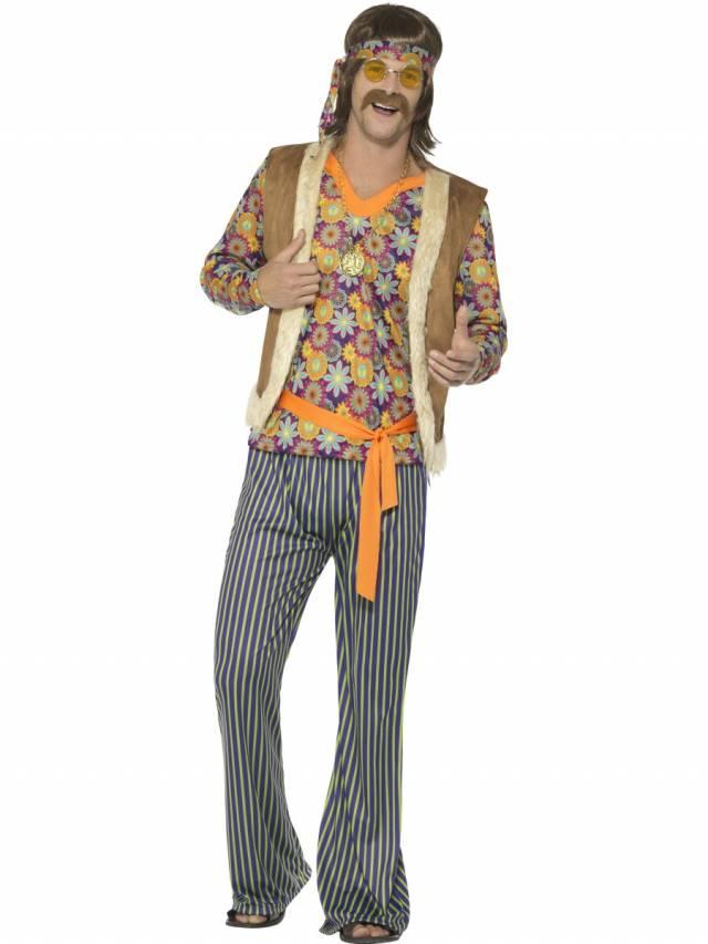 1960`s Hippie Singer Kostyme Herre