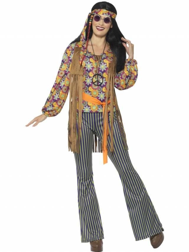 1960`s Hippie Singer Kostyme Dame