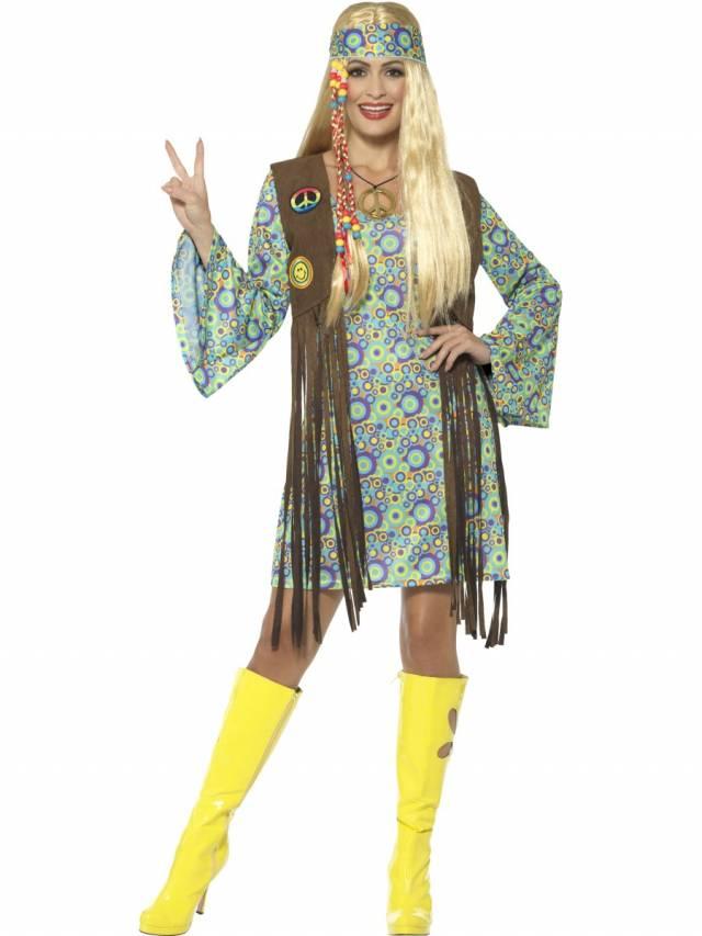 1960`s Hippie Chick Multicolor