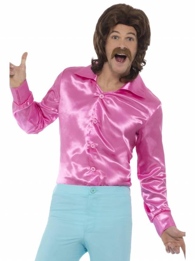 1960`s Satinskjorte Pink