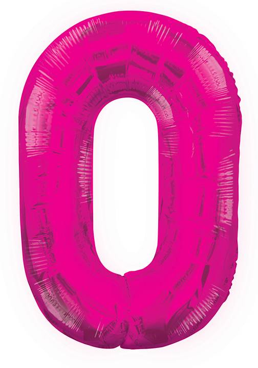 0 Rosa Nummer Ballong 86 cm