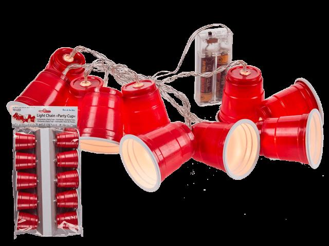 Røde collegekopper LED lysslynge
