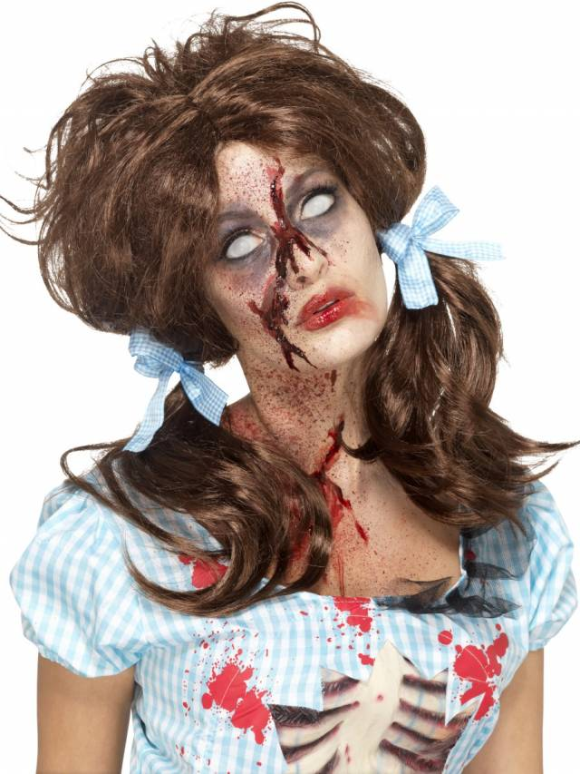 Bloody Country Girl Zombie Parykk