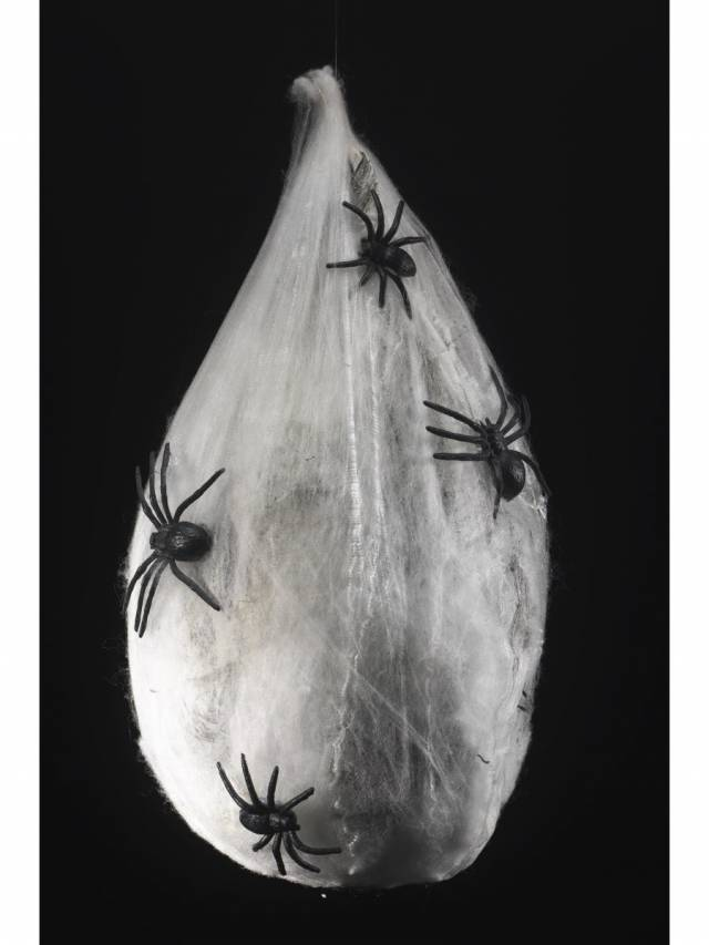 Animated Hanging Spider Larva Dekorasjon Glow