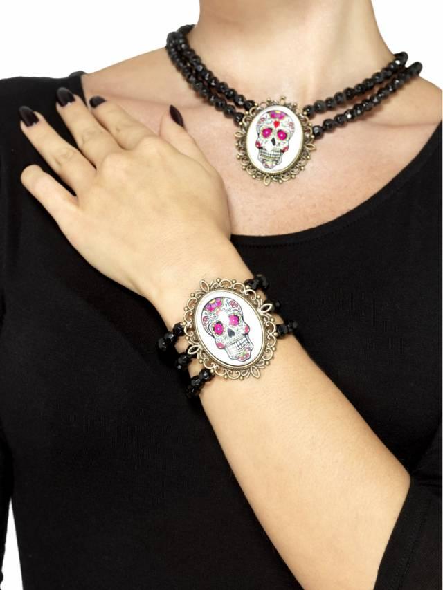 Beaded Bracelet Day of the Dead