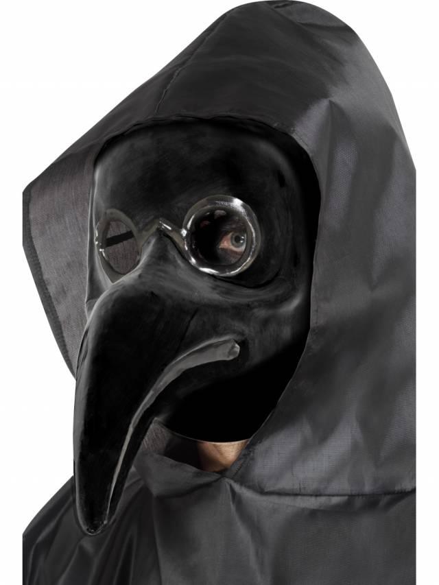 Authentic Plague Doctor Maske Svart