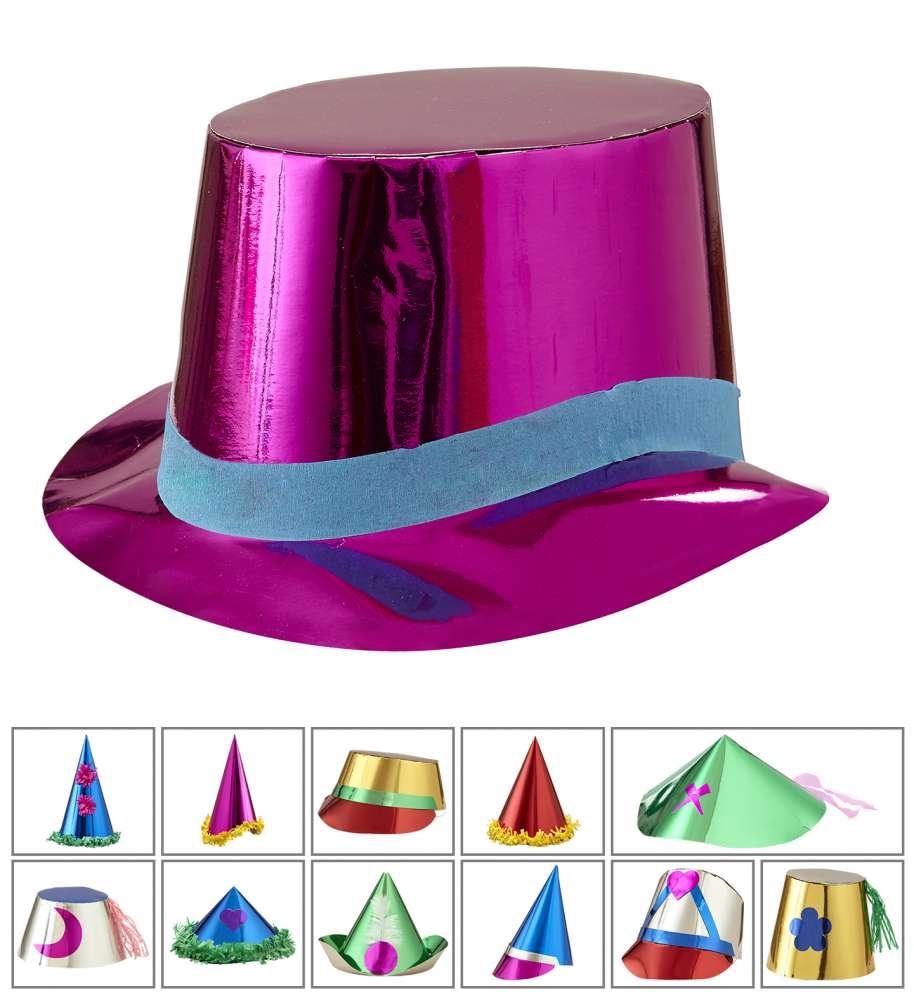 Partyhatter Papp Metallic Deluxe