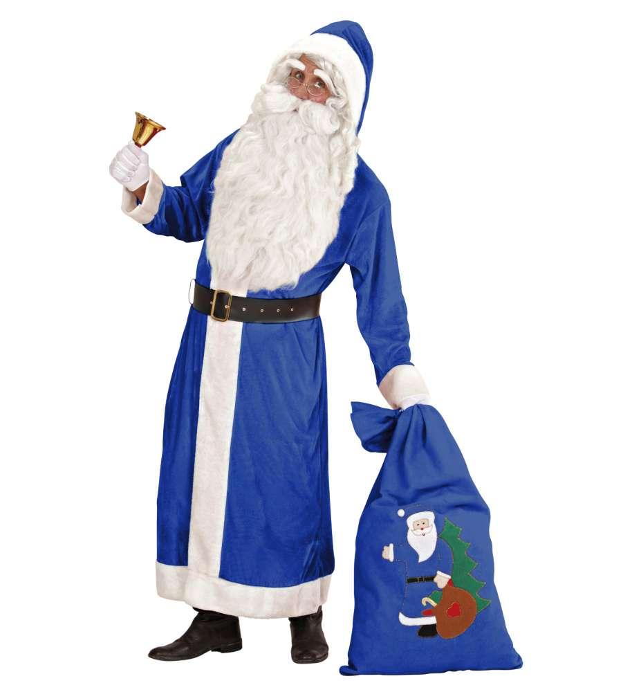 Blå Julenissekostyme Deluxe VELVET