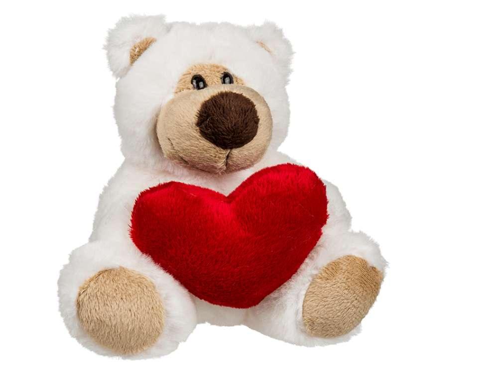 Plush Bamse med Hjerte, Liten
