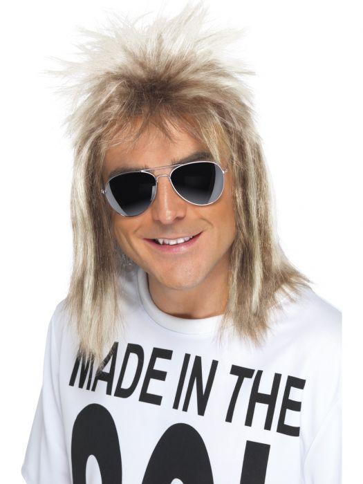 1980`s Mullet Parykk Blond
