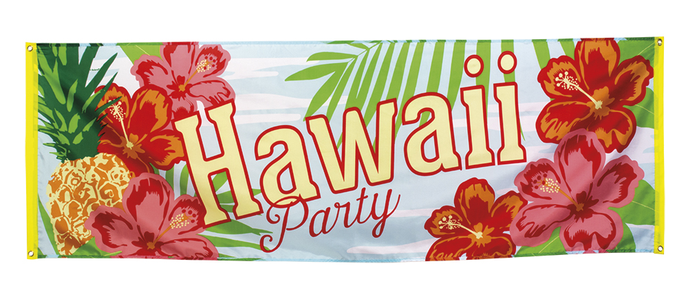 Banner Hawaii Party Stor til vegg Stoff