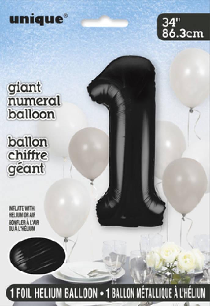 1 Tallballong Folie 86cm Svart