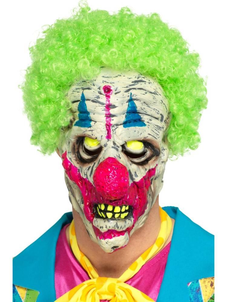 Black Light Creepy UV Clown Maske
