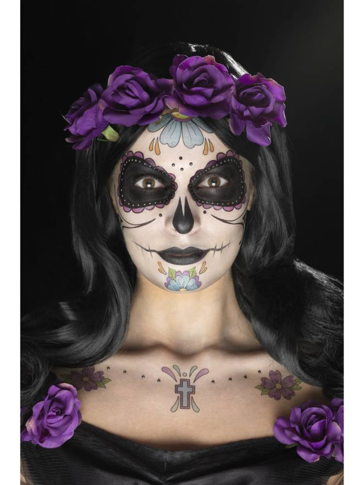 Day of the dead Face Tattoo Transfer Kit